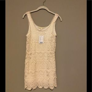 Urban Outfitters Staring at Stars White Lace Dress
